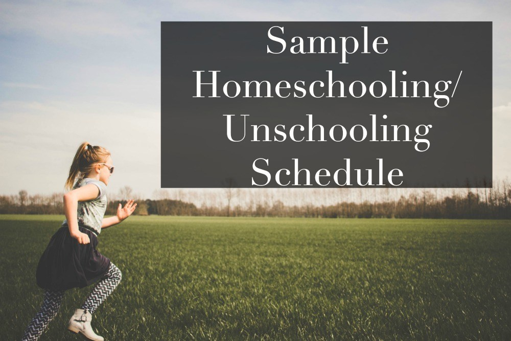 sample unschooling schedule