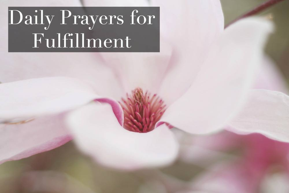 prayer for fulfillment