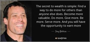 secret to wealth tony robbins